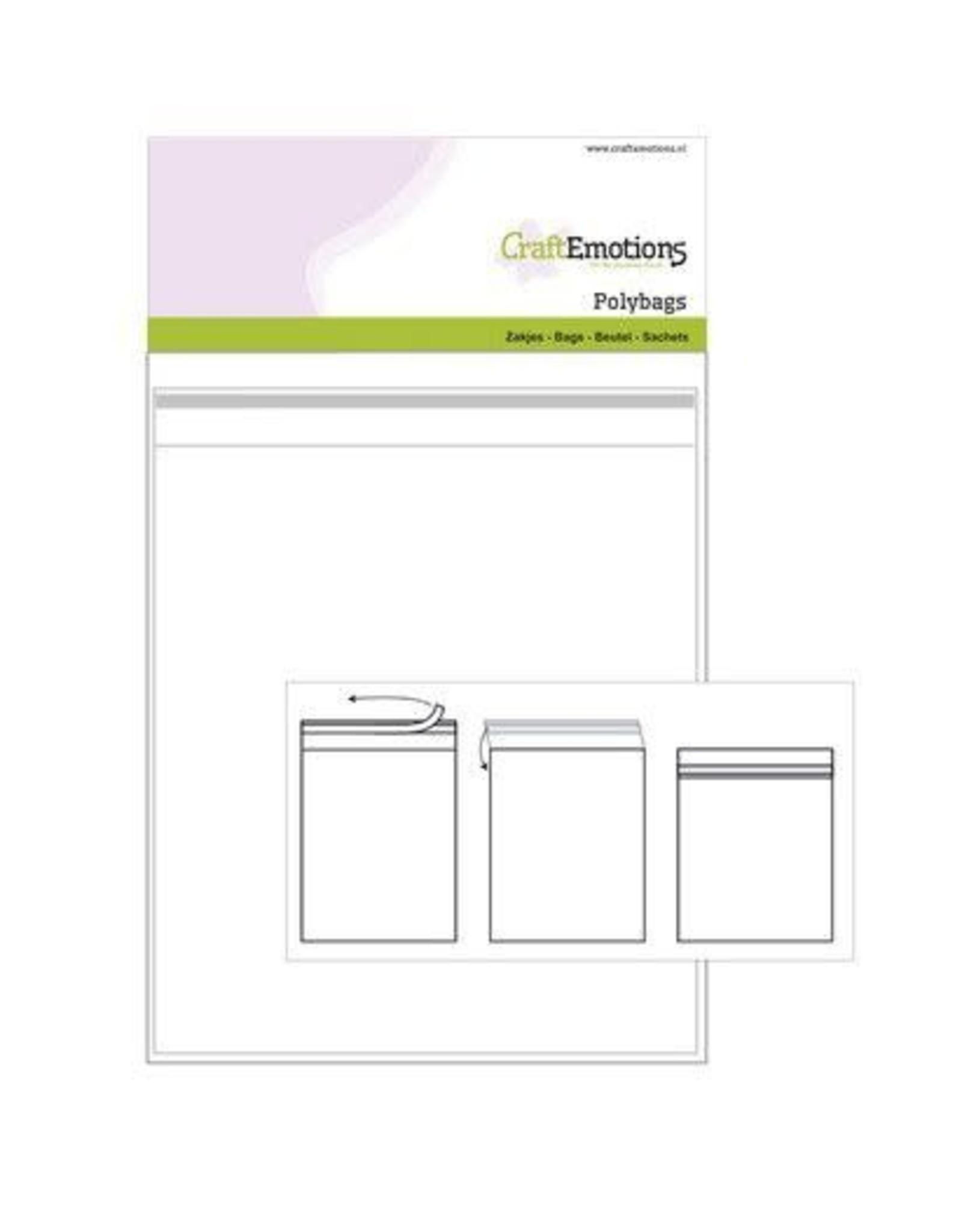 Craft Emotions CraftEmotions Zakjes zelfsluitend transparant 25st 172mmx172mm - Polybags