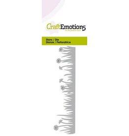 Craft Emotions CraftEmotions Die - Grasrand met weidebloempjes Card 5x10cm