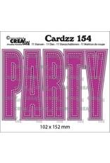 Crealies Crealies Cardzz no 154 PARTY (ENG) CLCZ154 102x152mm