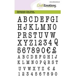Craft Emotions CraftEmotions clearstamps A6 - alfabet typewriter hoofdletters