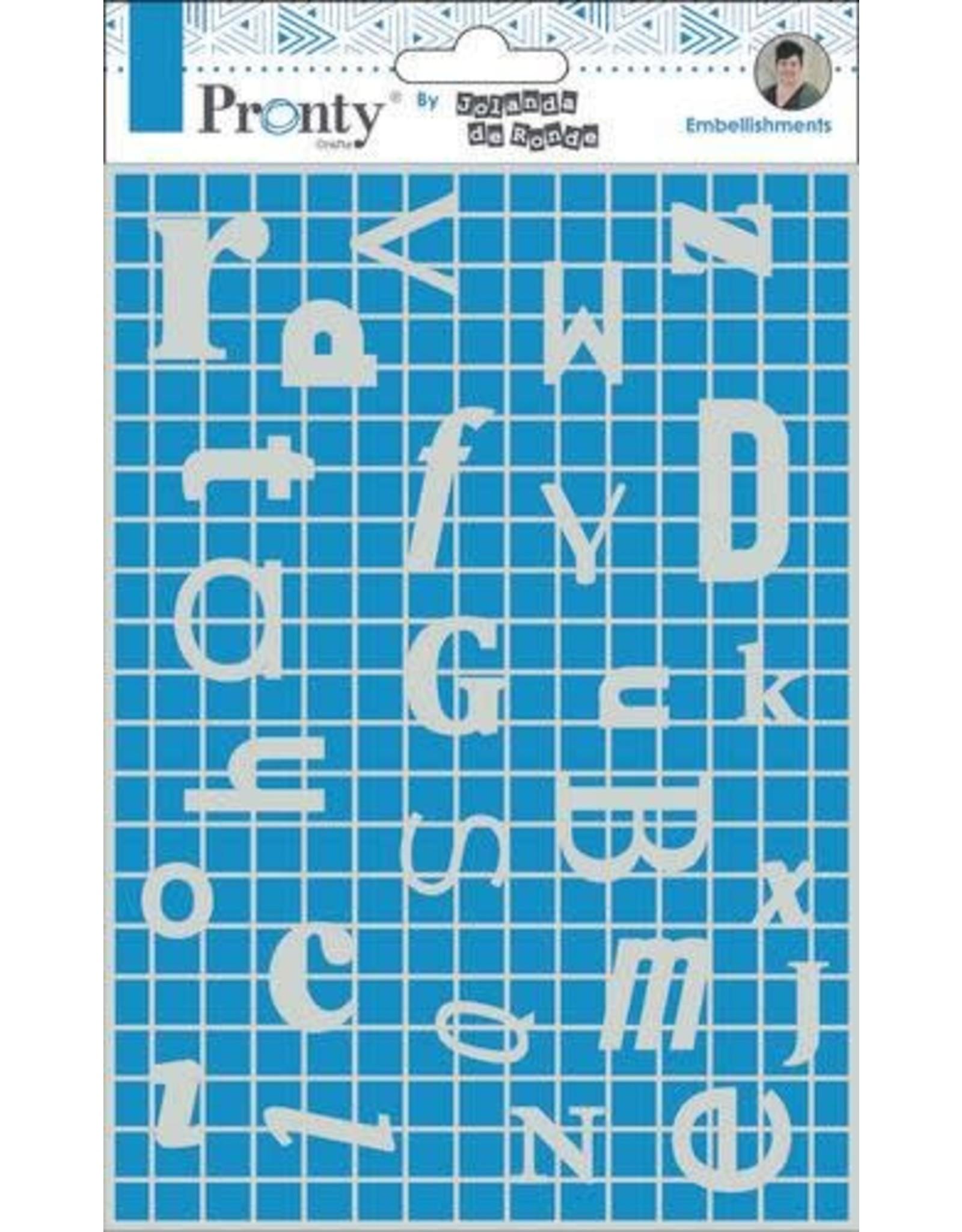 Pronty Pronty Chipboard Letters Frame A5 492.010.009 by Jolanda
