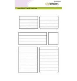 Craft Emotions CraftEmotions clearstamps A5 - Planner essentials - kaders