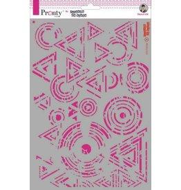 Pronty Pronty Mask Background Triangles & Circles Grunge A4 470.770.030 by Jolanda