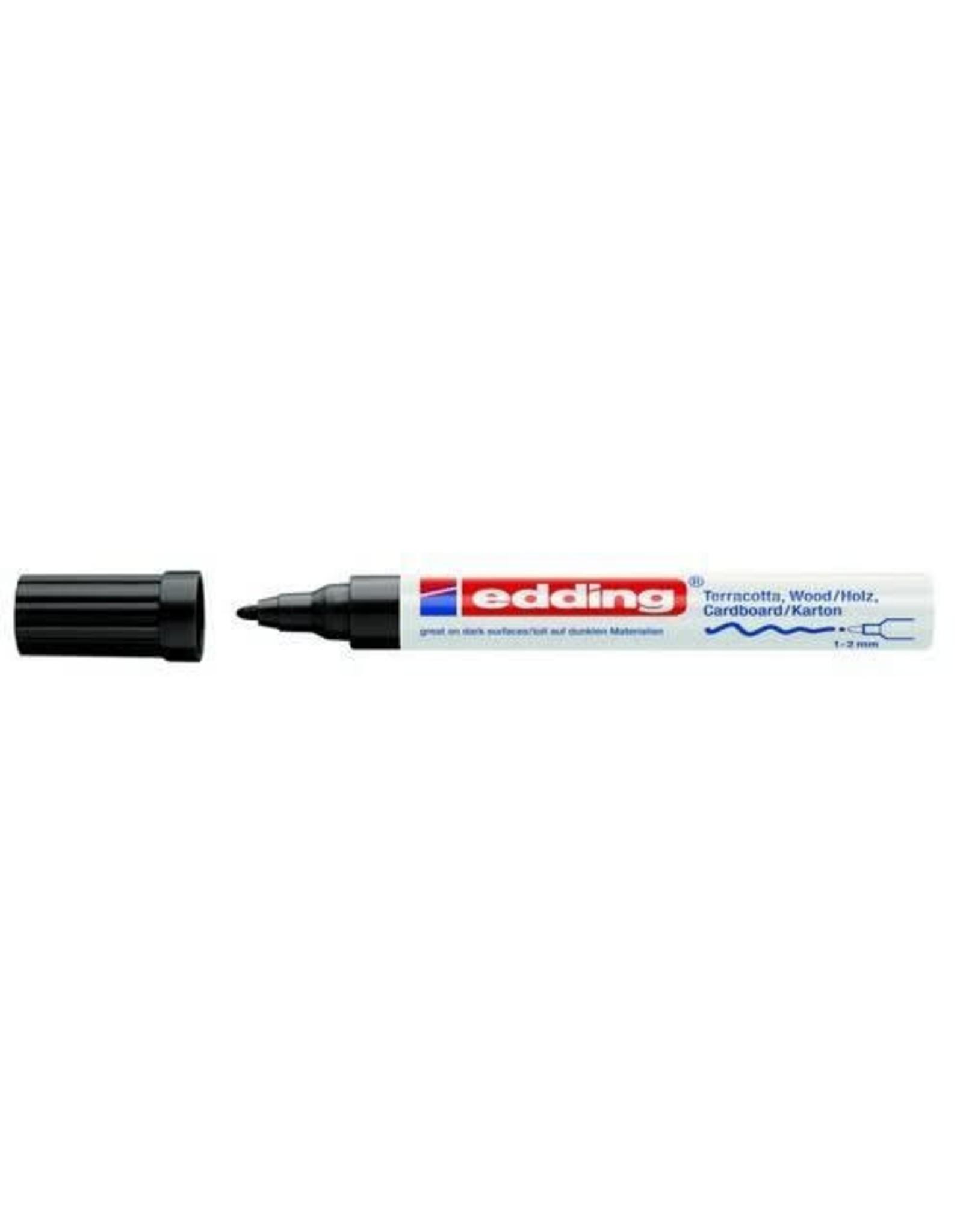 Edding edding-4040 matlakmarker zwart 1ST 1-2 mm
