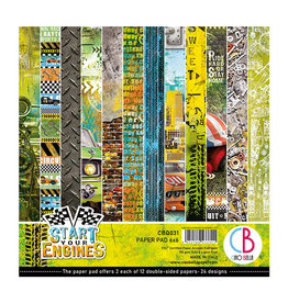 "Ciao Bella Ciao Bella Start your Engines Double-Sided Paper Pad 6""x6"""