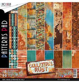 "Ciao Bella Ciao Bella Collateral Rust Double-Sided Patterns Pad 12""x12"""