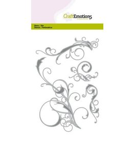 Craft Emotions CraftEmotions Die - swirls 4 stuks Card 10,5x14,8cm