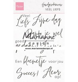 Marianne Design Marianne D Clear Stamps Handgeschreven - veel Liefs (NL) CS1050 110x150mm