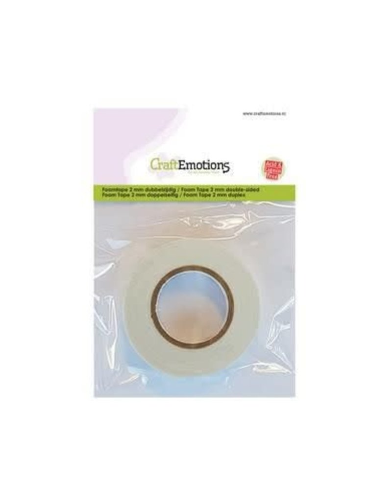 Craft Emotions CraftEmotions Foamtape 2 mm dubbelzijdig 2 MT 1RL