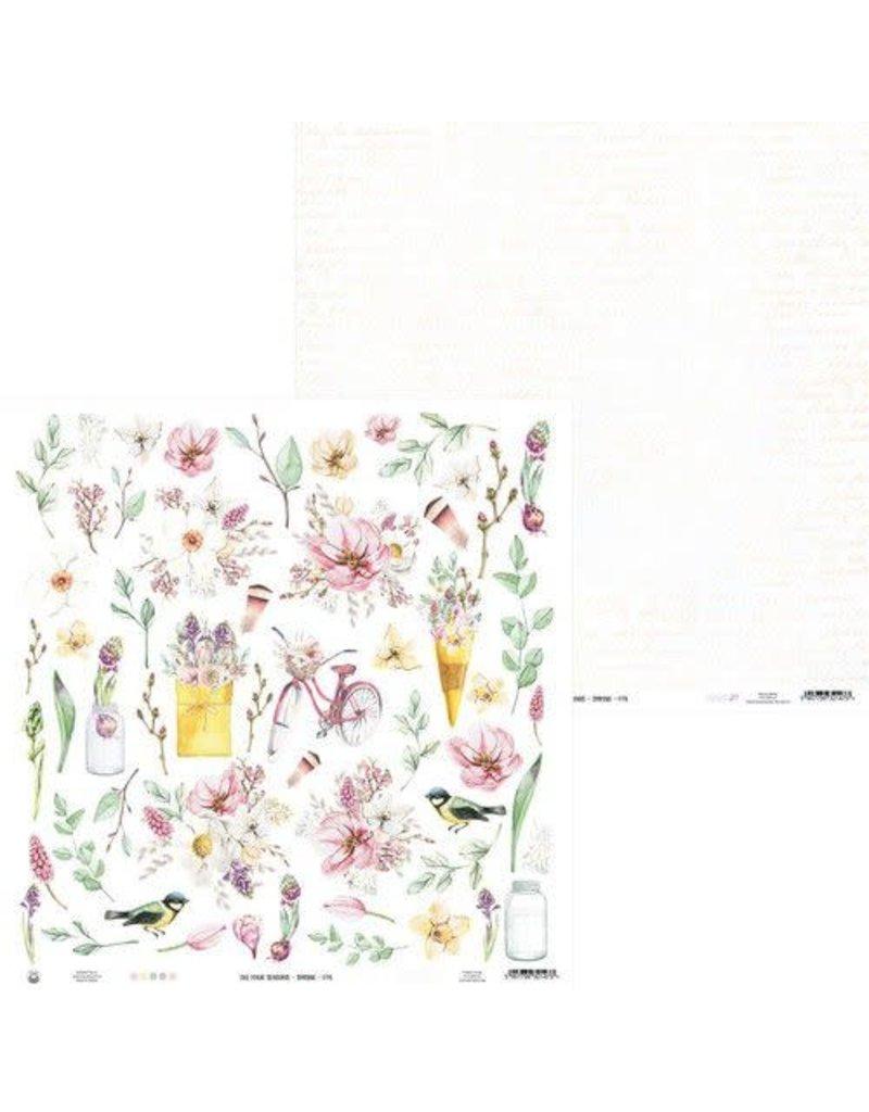 Piatek Piatek13 - Paper The Four Seasons - Spring 07a P13-SPR-07 12x12
