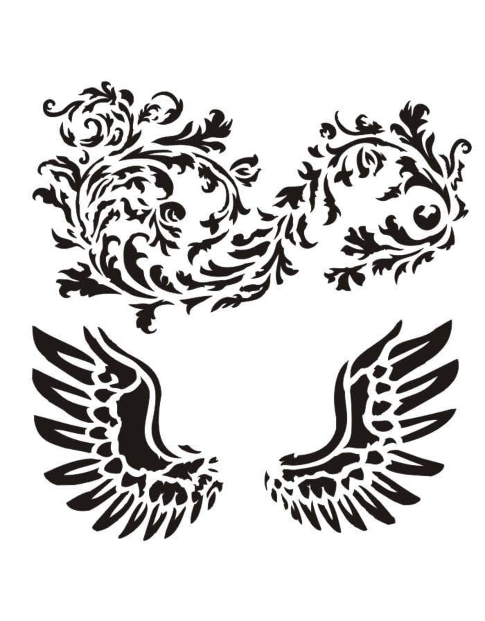 13@rts 13@rts mask stencil wings ornaments