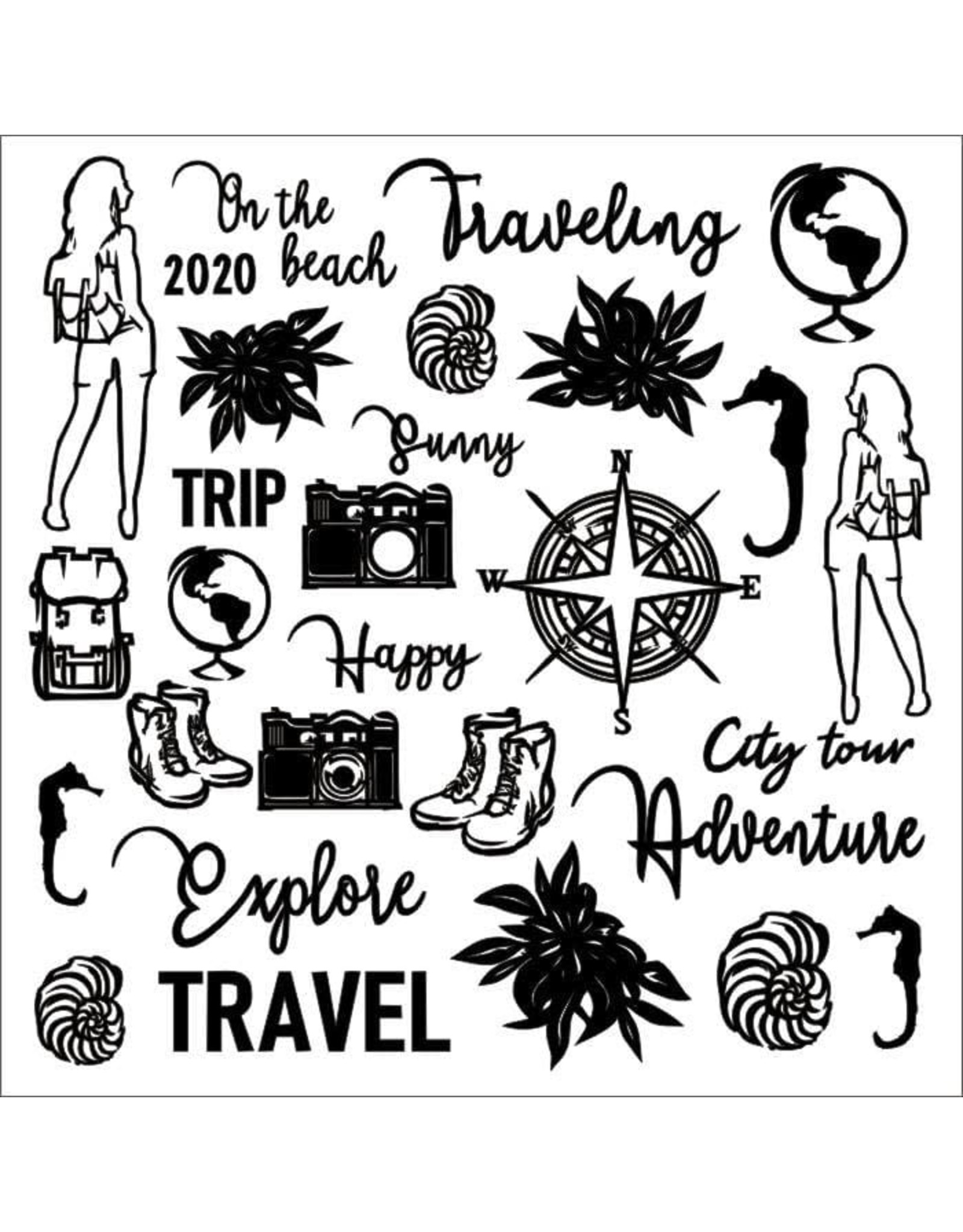 13@rts 13@rts chipboard Travel the world 12x12