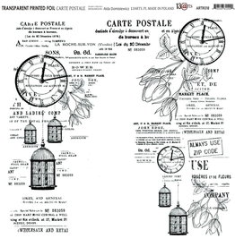 13@rts 13@rts Transparante sheet Carte Postale