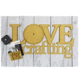 SnipArt SnipArt LOVE crafting klok MDF 5 9022