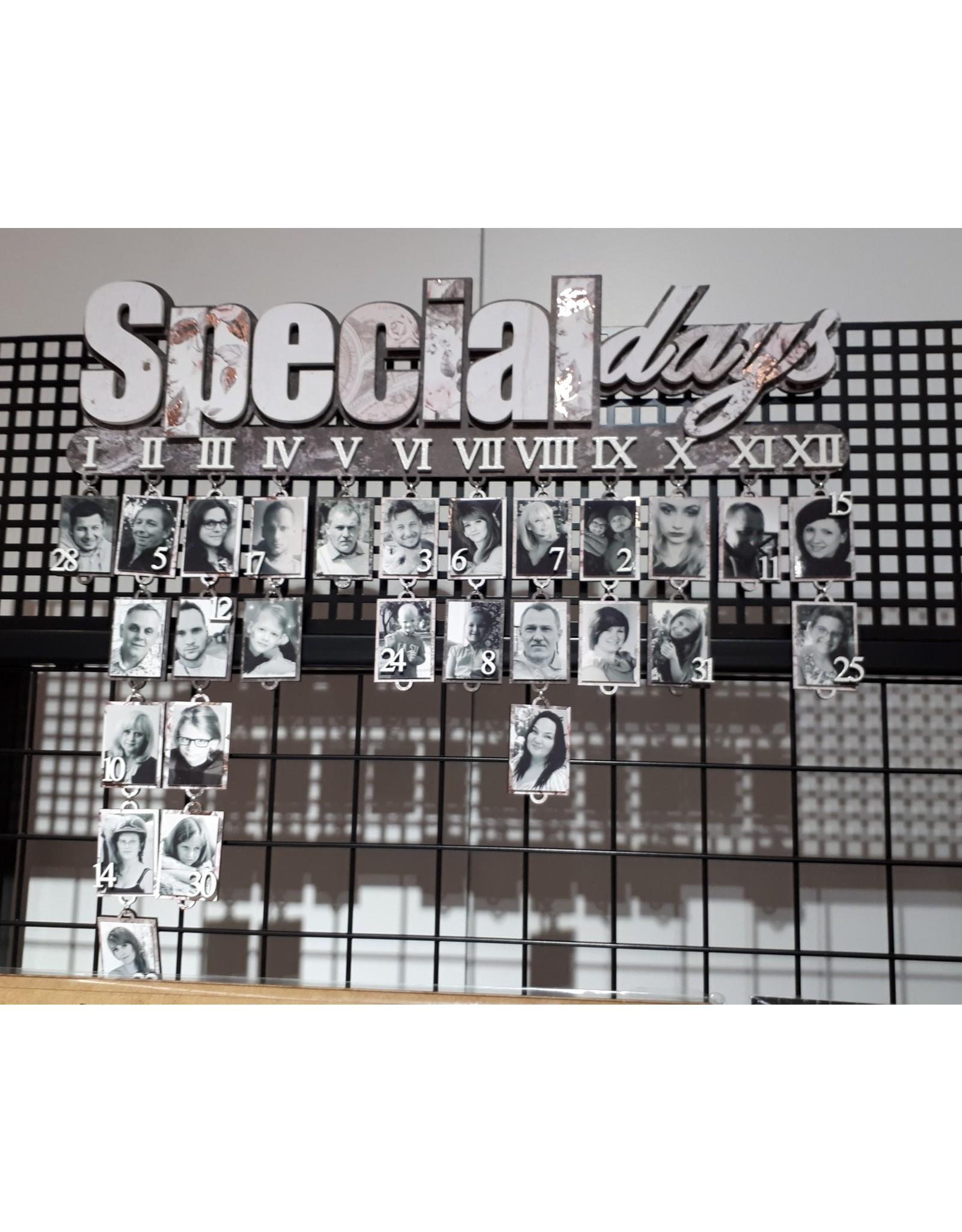 SnipArt SnipArt Special Days verjaardagskalender MDF layer 3