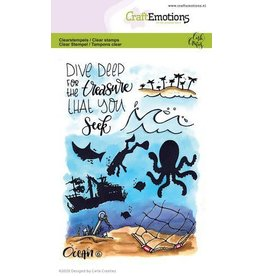 Craft Emotions CraftEmotions clearstamps A6 - Ocean 6 Carla Creaties