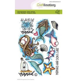 Craft Emotions CraftEmotions clearstamps A6 - Mermaid 1 Carla Creaties
