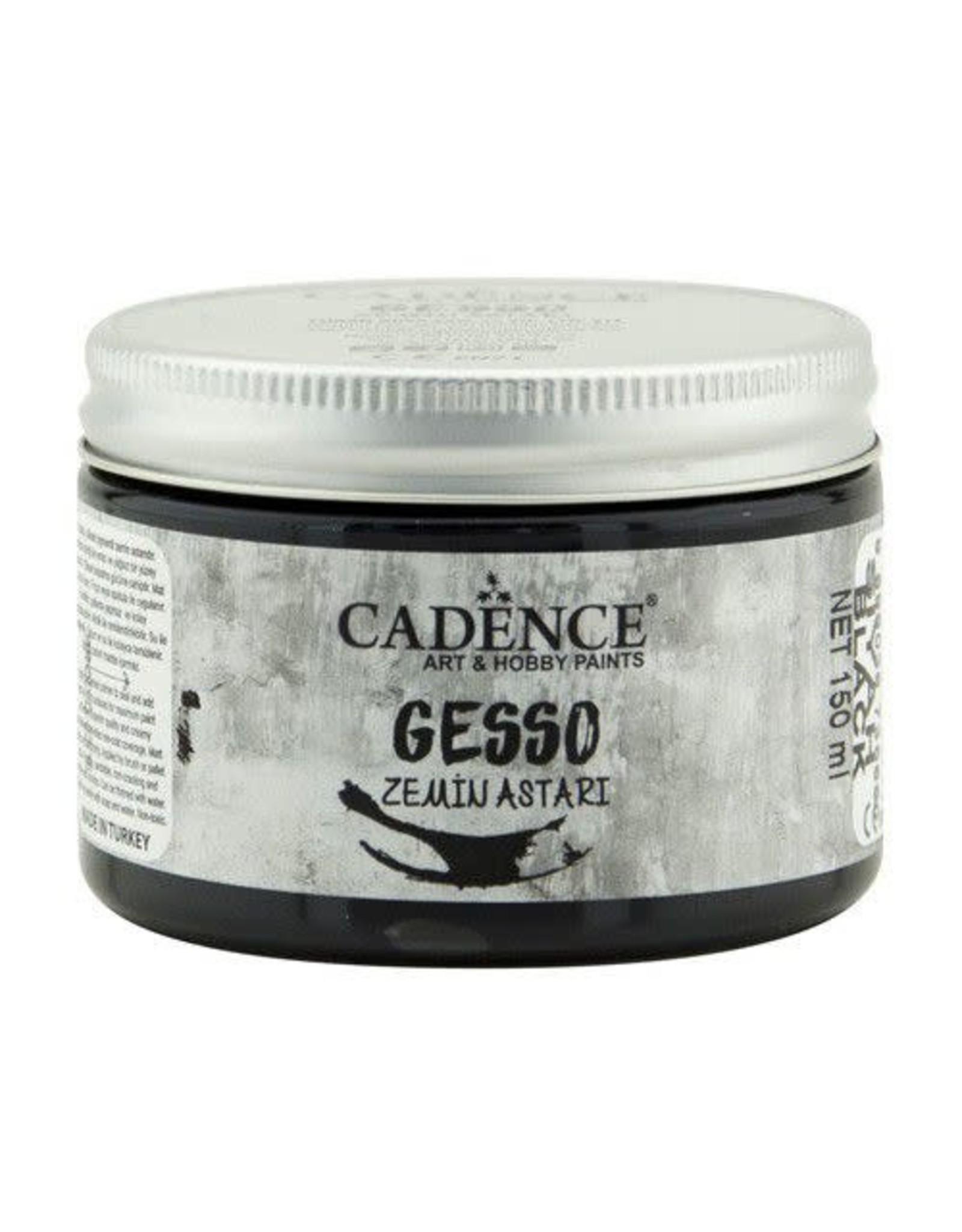Cadence Cadence gesso acrylverf zwart  150ml
