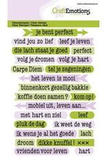 Craft Emotions CraftEmotions clearstamps A6 - tekst typewriter spiritueel (NL)