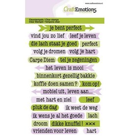 Craft Emotions CraftEmotions clearstamps A6 - tekst typewriter spiritueel (NL)
