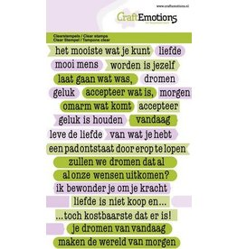 Craft Emotions CraftEmotions clearstamps A6 - tekst typewriter filosofie (NL)