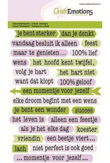 Craft Emotions CraftEmotions clearstamps A6 - tekst typewriter mindfulness (NL)