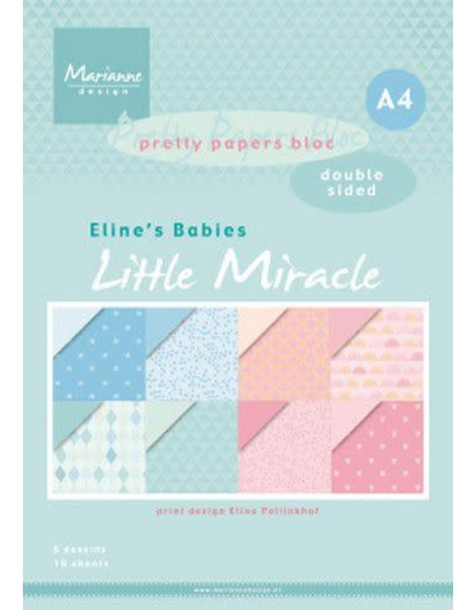 Marianne Design Marianne D Paperpad Eline's Babies little miracles A4 PB7058