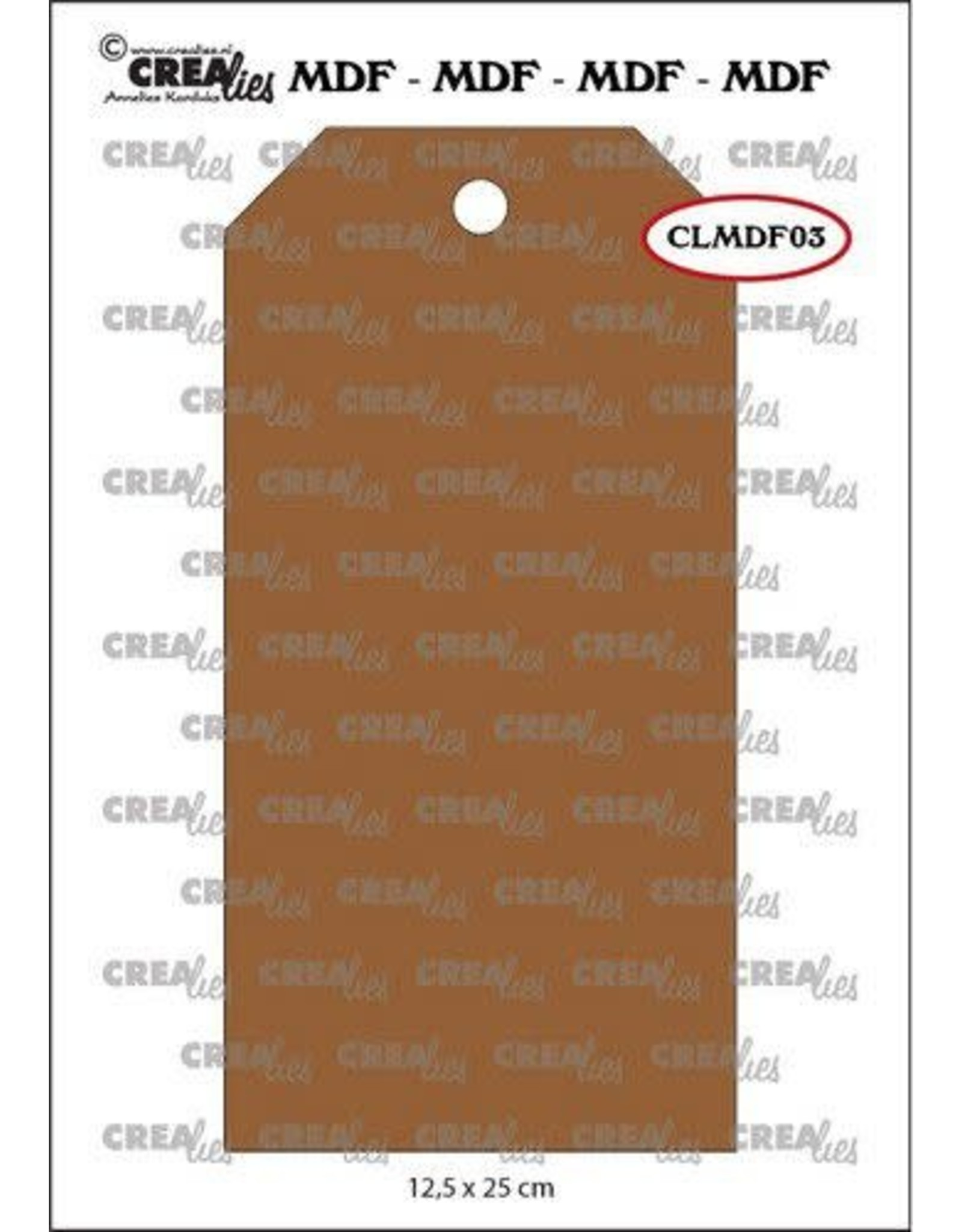 Crealies Crealies MDF label CLMDF03 12,5 x 25cm