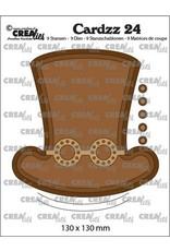 Crealies Crealies Cardzz no 24 Steampunk hoed +bril CLCZ24 130 x 130mm