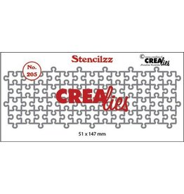 Crealies Crealies Stencilzz no. 205 puzzelstukjes CLST205 51 x 147mm