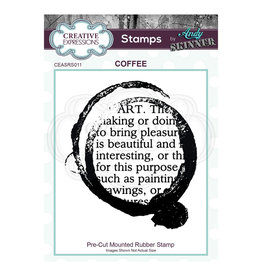 Creative Expressions Creative Expressions • Pre cut rubber stamp Andy Skinner coffee art