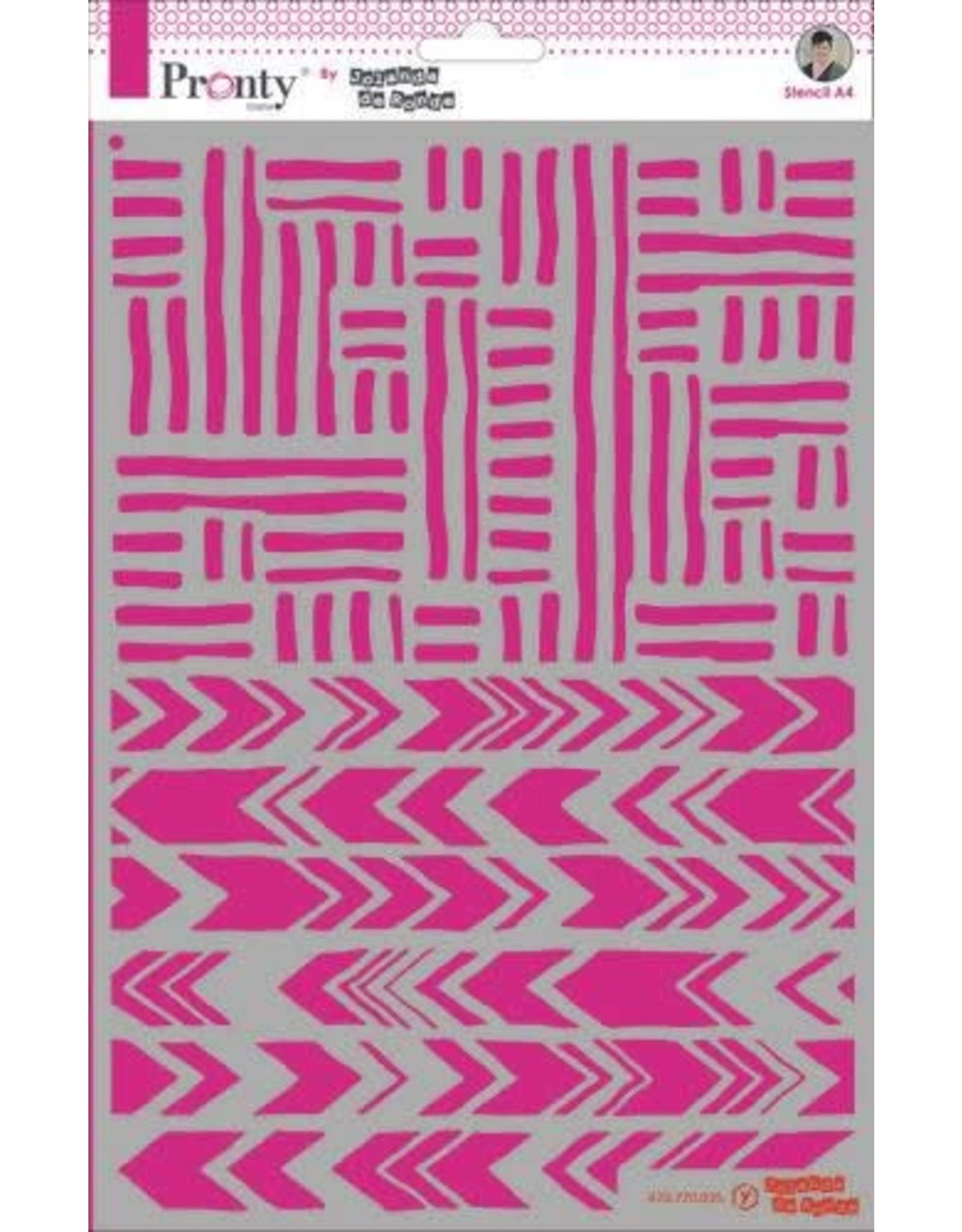 Pronty Pronty Mask Stripes A4 470.770.035 by Jolanda