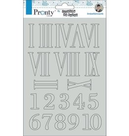 Pronty Pronty Chipboard Numbers A5 492.010.014 by Jolanda