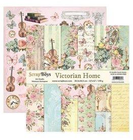 Scrapboys ScrapBoys Victorian Home paperset 12 vl+cut out elements-DZ VIHO-08 190gr 30,5cmx30,5cm