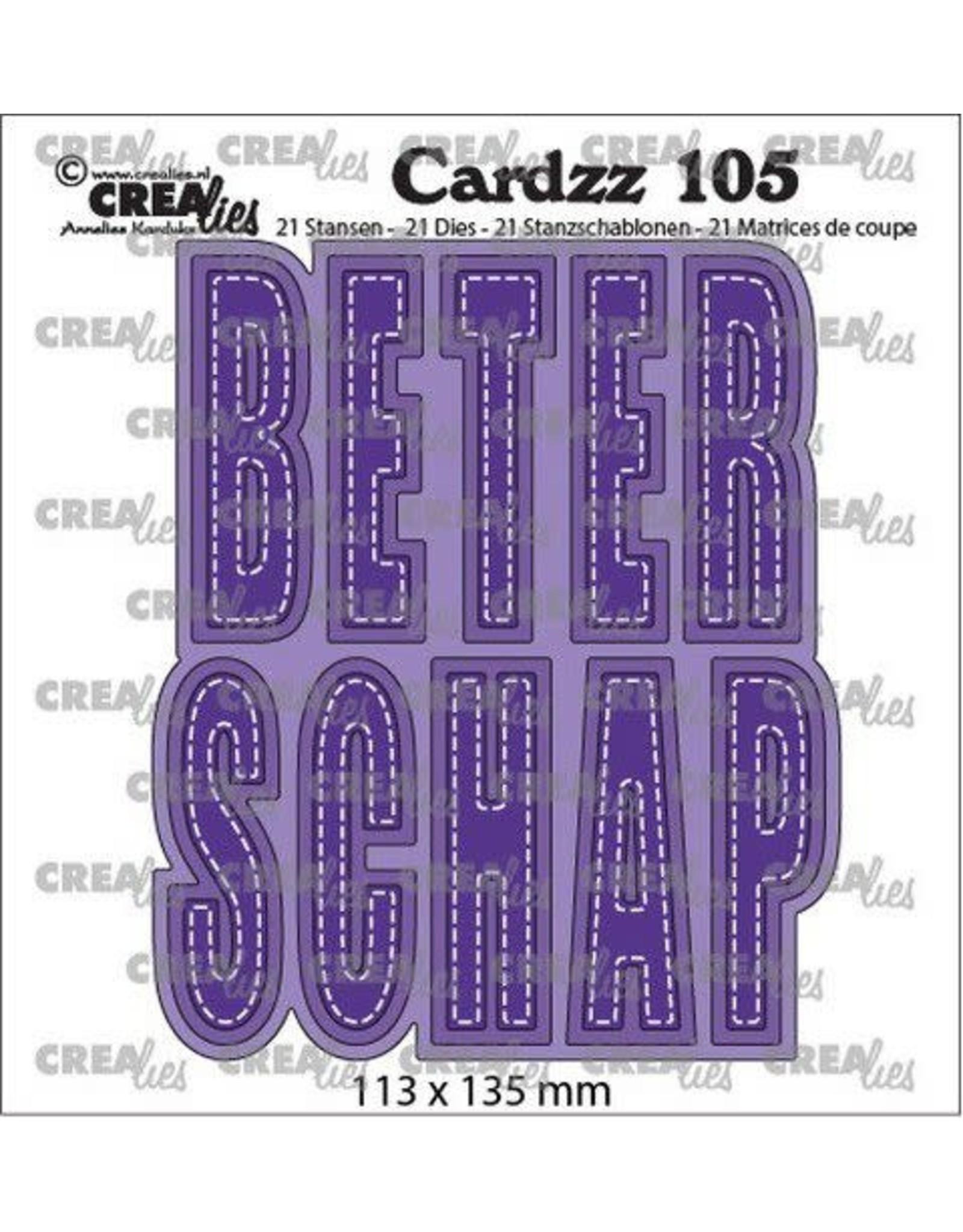 Crealies Crealies Cardzz no 105 Beterschap (NL) CLCZ105