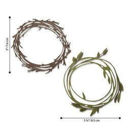 Sizzix Sizzix - Thinlits Die Set 10PK  Funky Wreath 664434 Tim Holtz