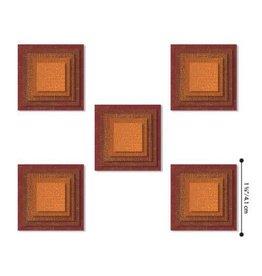 Sizzix Sizzix - Thinlits Die Set 25PK Stacked Squares 664438 Tim Holtz