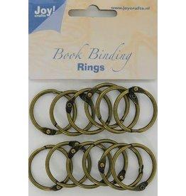 Joy Craft Joy! Crafts Boekbinders-ringen antiek koper 30mm 12st 6200/0132