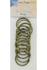 Joy Craft Joy! Crafts Boekbinders-ringen antiek koper 40mm 12st 6200/0133