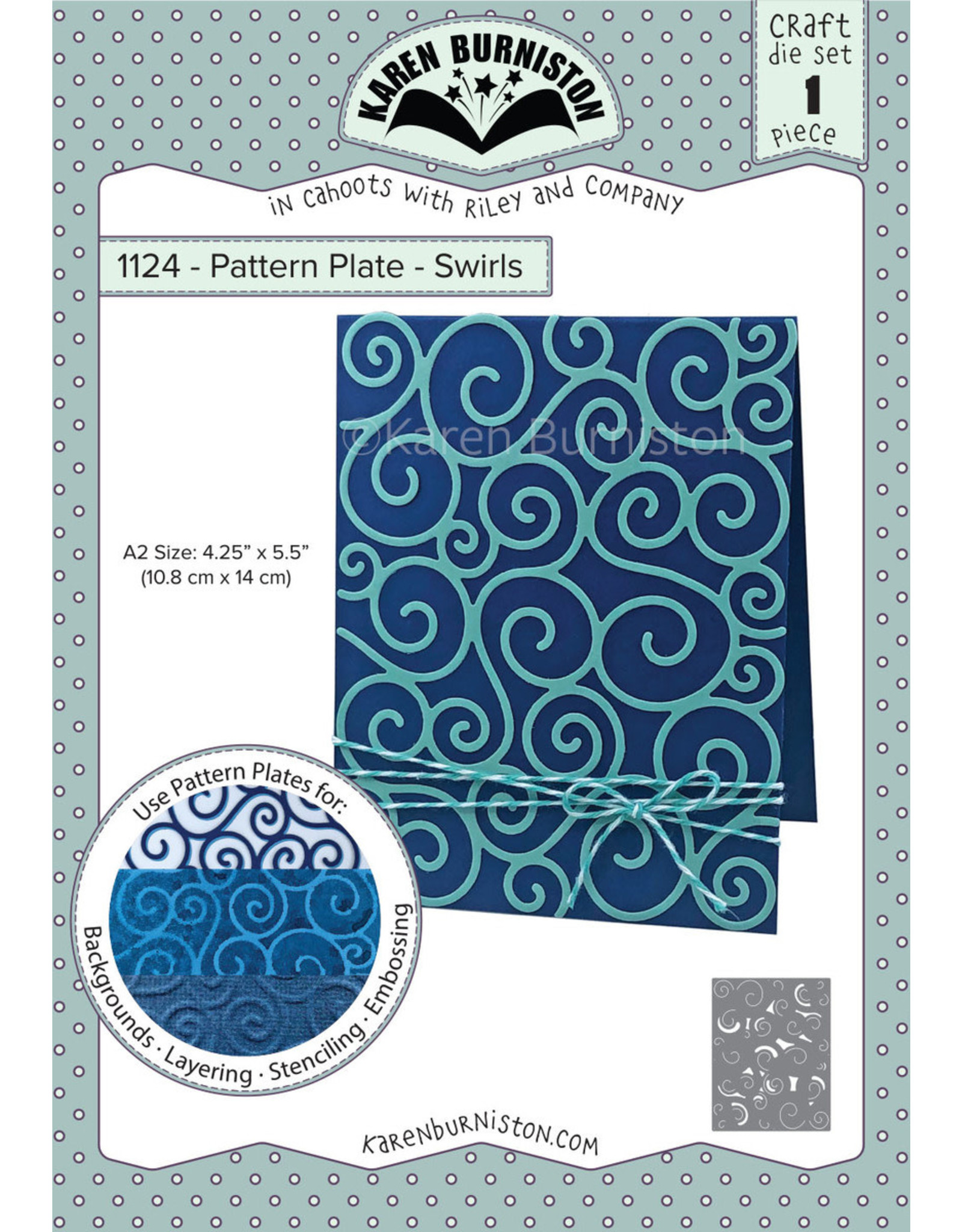 Karen Burniston Karen Burniston Pattern Plates Swirls 1124