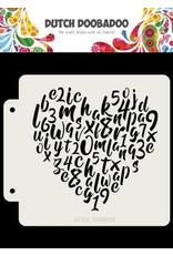 Dutch Doobadoo Dutch Doobadoo Dutch Mask Alfabet hart 163x148 470.715.153