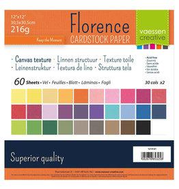 Vaessen Creative Vaessen Creative Florence • Cardstock texture 30,5x30,5cm Assorti