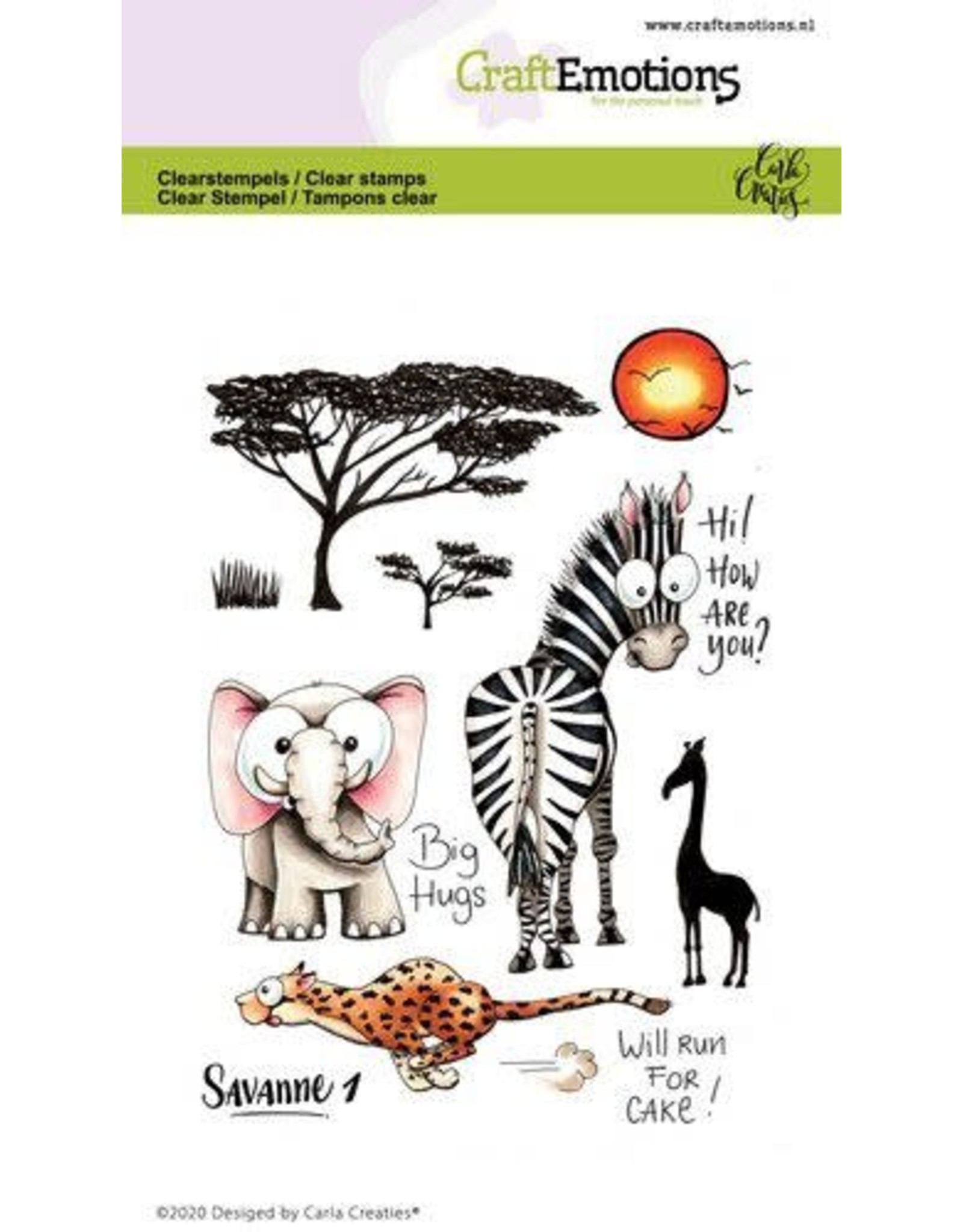 Craft Emotions CraftEmotions clearstamps A6 - Savanne 1 Carla Creaties