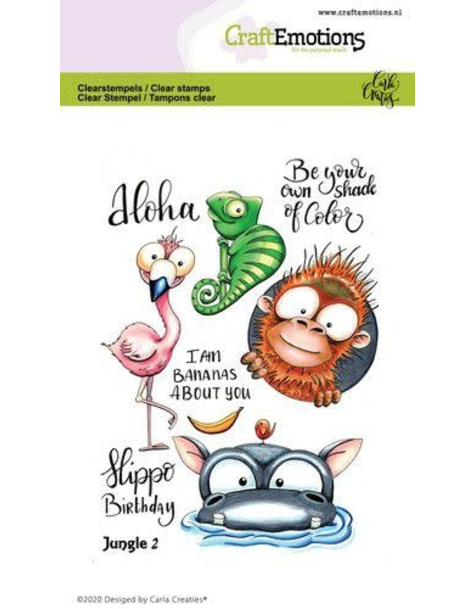 Craft Emotions CraftEmotions clearstamps A6 - Jungle 2 Carla Creaties