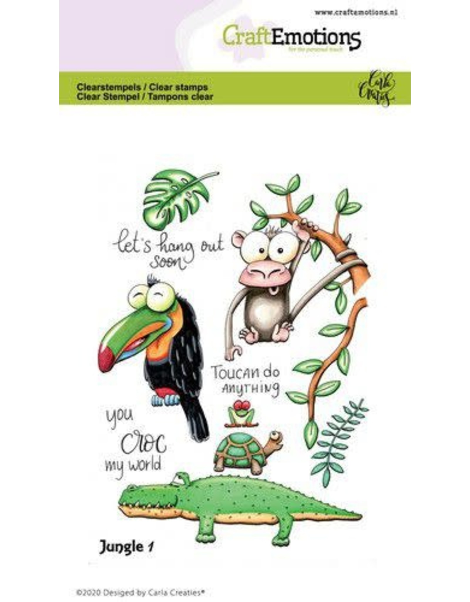Craft Emotions CraftEmotions clearstamps A6 - Jungle 1 Carla Creaties