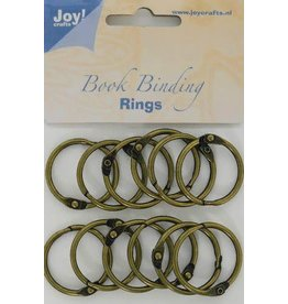 Joy Craft Joy! Crafts Boekbinders-ringen antiek koper 30mm 12st 6200/0132