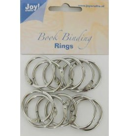 Joy Craft Joy! Crafts Boekbinders-ringen zilver 30mm 12st 6200/0122