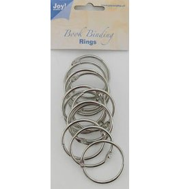 Joy Craft Joy! Crafts Boekbinders-ringen zilver 40mm 12st 6200/0123