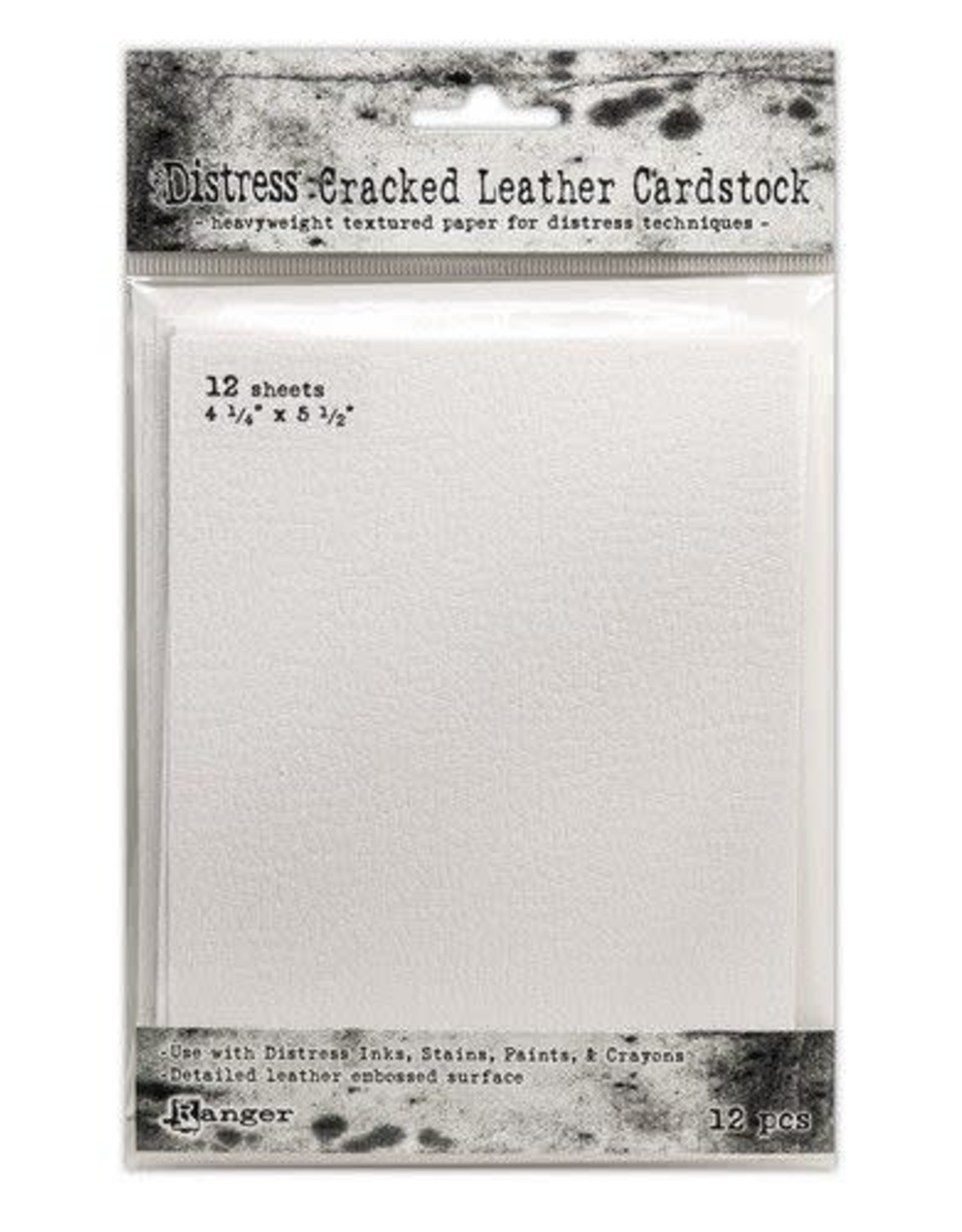 Ranger Ranger Distress Cracked Leather Paper 4.25x5.5 12 vel TDA71310