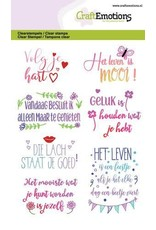Craft Emotions CraftEmotions clearstamps A6 - Quotes - volg je hart, ... (NL)